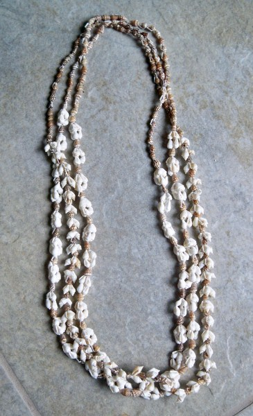Shell Lei Necklaces - Lot of 3-Shell lei luau tiki necklace
