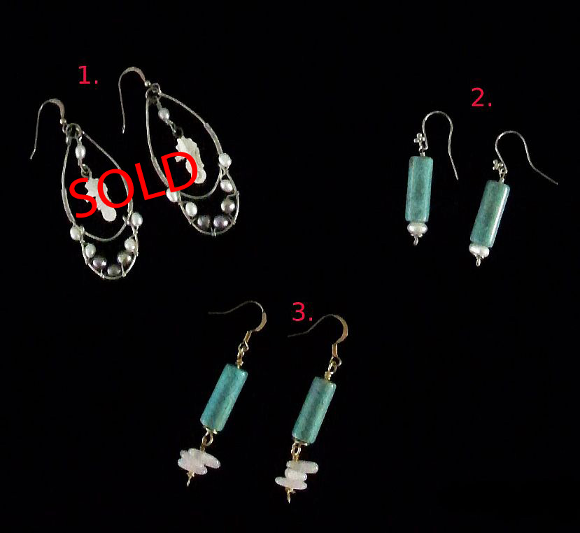 Hand Crafted Earrings - Turquoise & Seahorse-earrings earring turquoise
