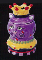 King Cat Votive Candle Holder