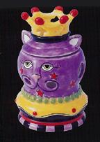 King Cat Votive Candle Holder