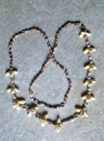 Cowry & Shell Lei Necklaces-shell lei necklace