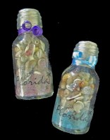 Florida Souvenir Bottle of Colored Sand and Shells