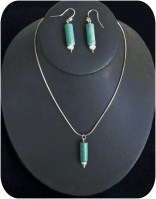 Silver and Turquoise Necklace & Earring Set-turquoise silver necklace earrings