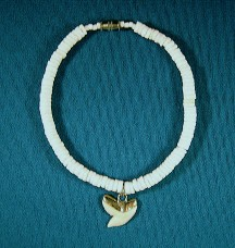 Clam Shell with Medium Shark Tooth Anklet-