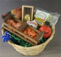 Florida Souvenir Gift Basket with Orange Blossom Perfume