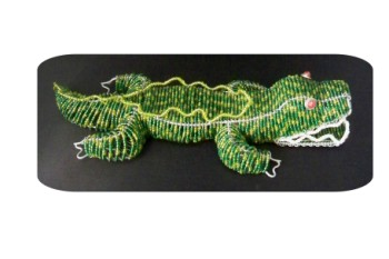 Beaded Alligator-gator alligator crocodile Florida souvenir hand crafted beaded UF
