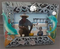 At the Beach Dolphin Photo Frame