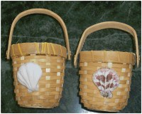 Basket & Shell Candle Holders