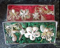 Seashell Ornaments - Boxed Set of 4