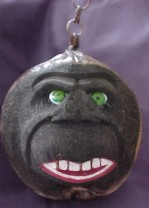 Coconut Head Gorilla-coconut tiki head carved bank monkey ape gorilla