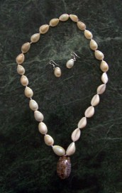 Cowrie Shell Necklace & Earring Set-cowrie cowry cowries shells earrings necklace