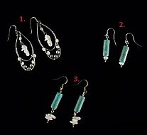 Hand Crafted Earrings - Turquoise & Seahorse