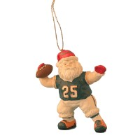 Miami Dolphins Santa Ornament-miami dolphins santa football ornament