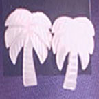 Mother of Pearl Palm Tree Earrings