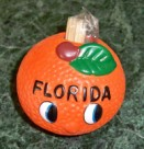 Florida Souvenir Orange Smiley Toothpick Holder