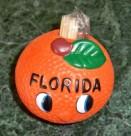 Florida Souvenir Orange Smiley Toothpick Holder