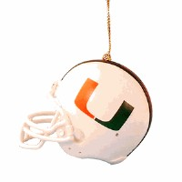 University of Miami Hurricanes Helmet Ornament