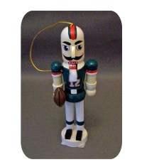 Miami Dolphins Wooden Nutcracker Ornament
