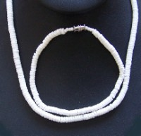 Clam Shell Necklace & Anklet Set-