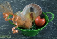 Orange Blossom Perfume Bucket-orange blossom perfume basket bucket