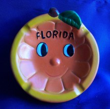 Florida Souvenir Smiley Ashtray