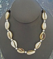 Tie on Cowry Shell Choker Necklace