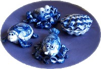 Seaside Trinket Box Set-trinket box lobster shell turtle crab