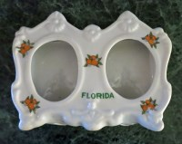 Vintage Florida Souvenir Photo Frame - Double