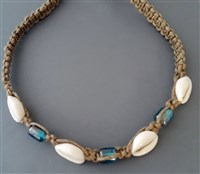 Cowry and Hemp Choker