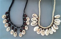 Choker Necklace with beads and cowry shells