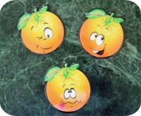 Orange Smiley Magnet Florida Souvenirs
